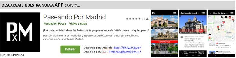 app paseando por madrid