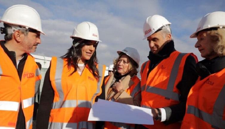La Vicealcaldesa de Madrid visita las obras del Centro temporal de Acogida